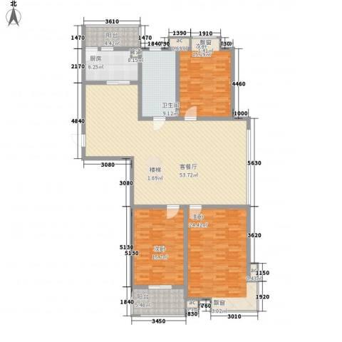 嘉顺花园3室1厅1卫1厨189.00㎡户型图