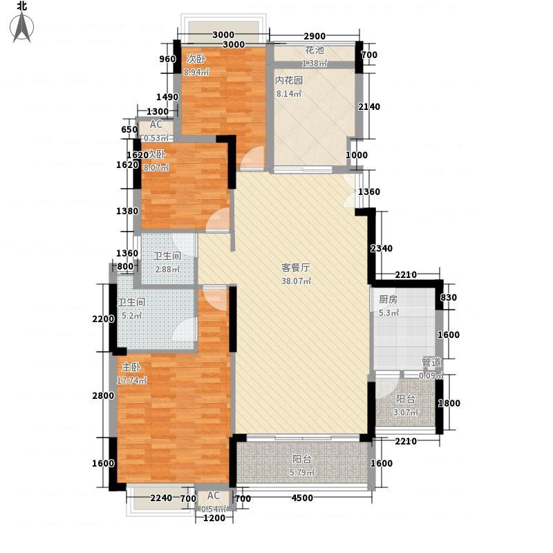 长城世家二期121.00㎡长城世家二期户型图28栋标准层01户型3室2厅2卫户型3室2厅2卫