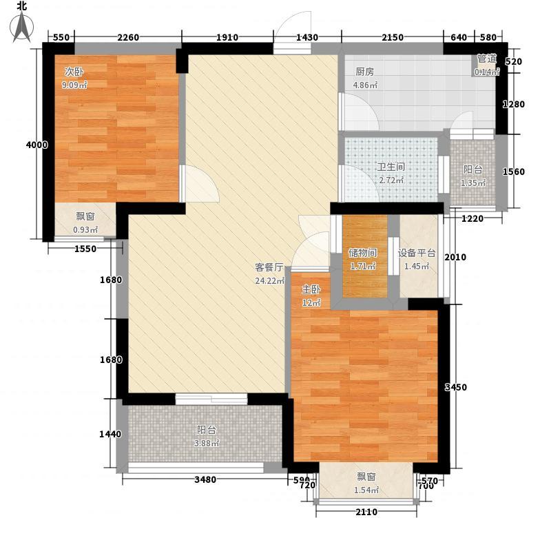 听涛观海龙台88.00㎡听涛观海龙台户型图A4户型2室2厅1卫1厨户型2室2厅1卫1厨