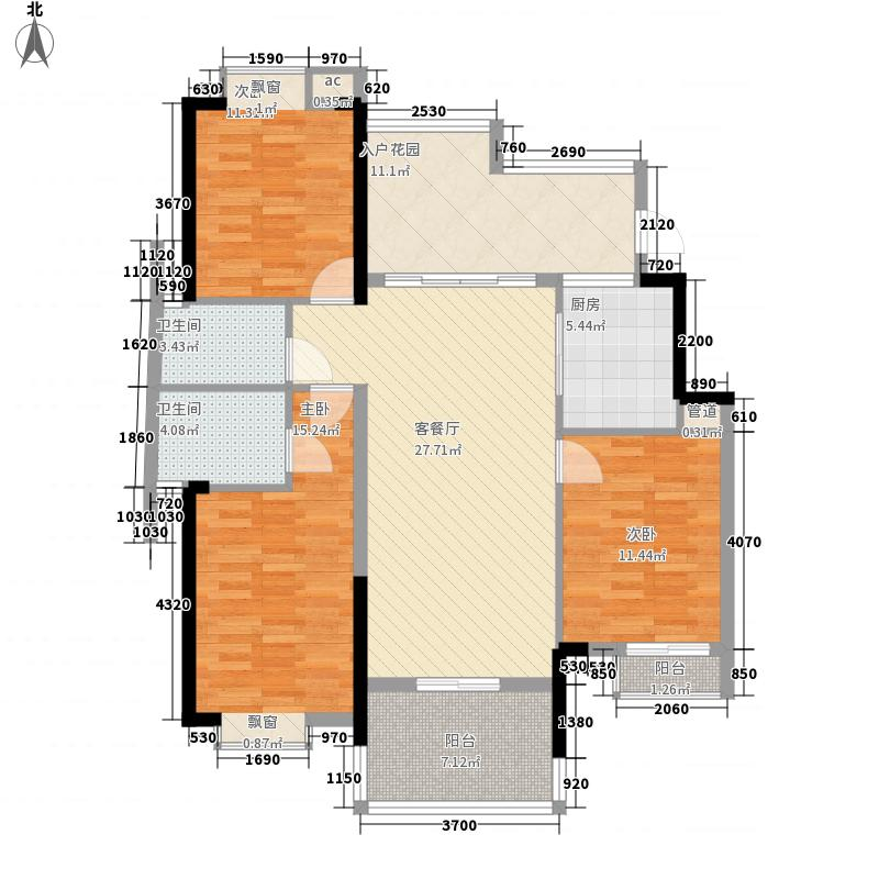 秀山一品140.04㎡秀山一品户型图1栋02单位3室2厅2卫1厨户型3室2厅2卫1厨