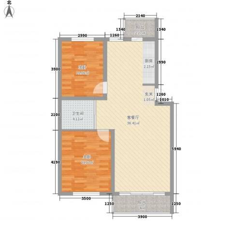 澜山溪谷2室1厅1卫0厨91.00㎡户型图