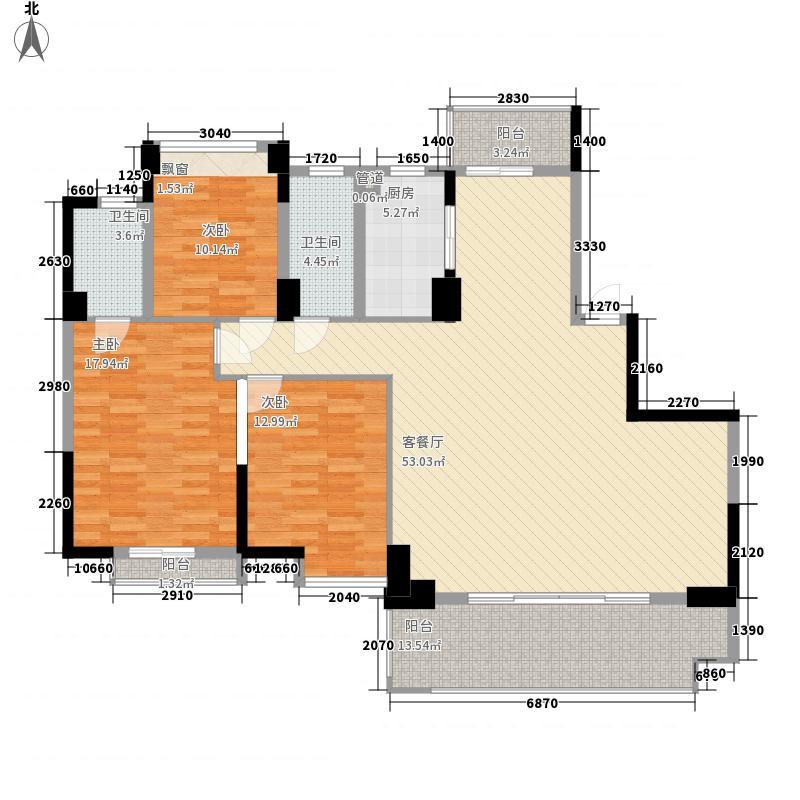 寻乌银河湾168.00㎡C户型3室2厅2卫1厨