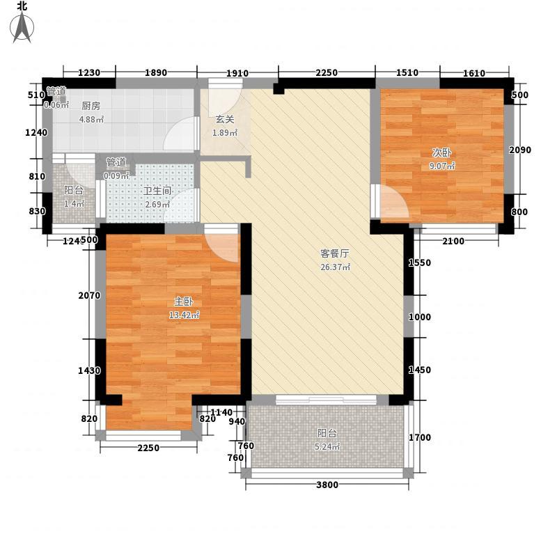 宝能睿城92.00㎡宝能睿城户型图92㎡户型2室2厅1卫1厨户型2室2厅1卫1厨