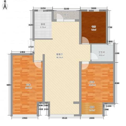 正源吉祥e家1室1厅1卫0厨127.00㎡户型图