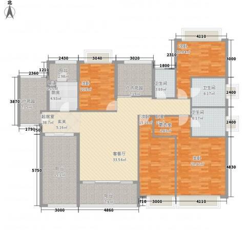 世纪城国际公馆香榭里3室0厅3卫1厨226.00㎡户型图