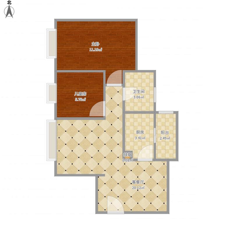 广州-丽江花园-丽荃楼5-306-设计方案