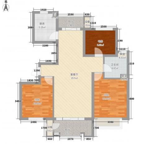 国基城邦3室1厅1卫1厨112.00㎡户型图