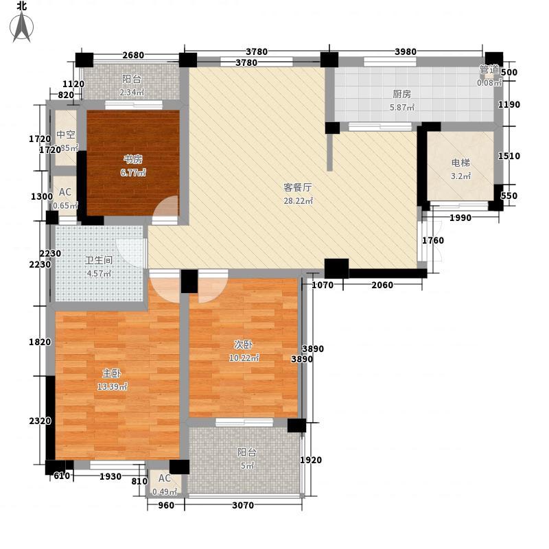 润和御景城120.00㎡润和御景城户型图二期D户型3室2厅1卫户型3室2厅1卫