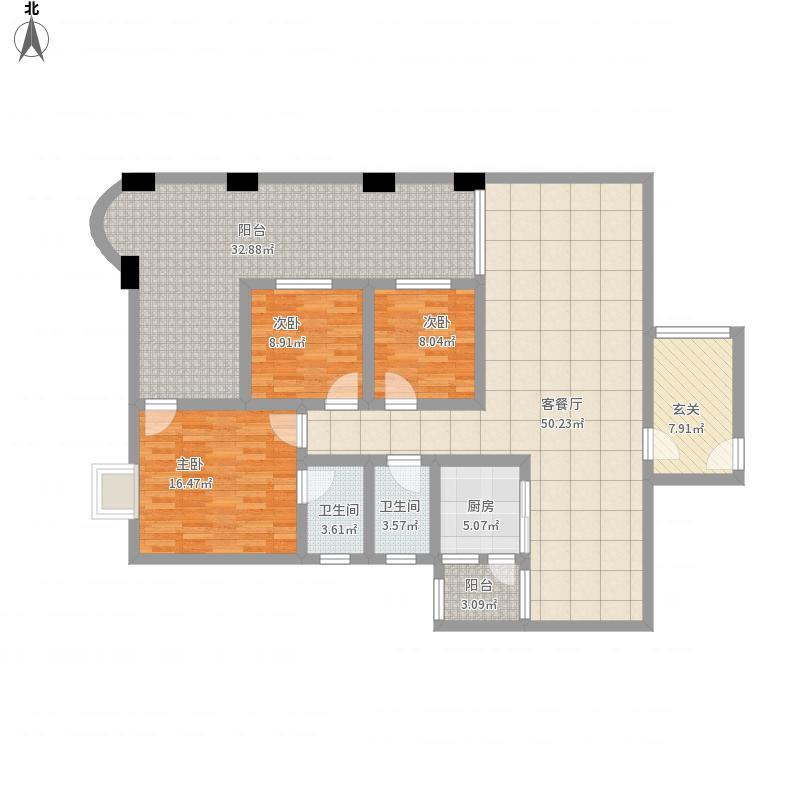东方明珠9栋三室二厅二卫