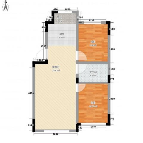 清泉旺第2室1厅1卫0厨86.00㎡户型图