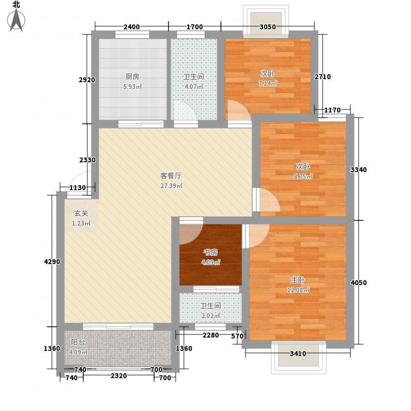 龙都花园109.64㎡龙都花园户型图D户型4室2厅2卫户型4室2厅2卫
