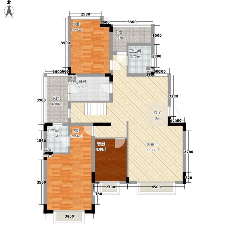 复地上城国际公寓2户型2室