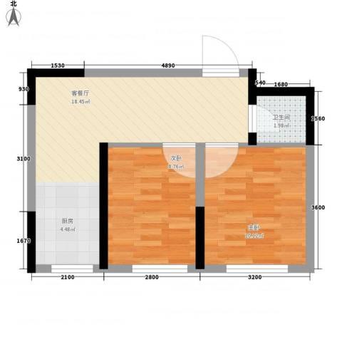 清泉旺第2室1厅1卫0厨62.00㎡户型图