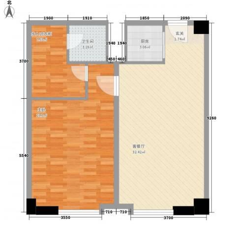 帝玖商业中心1室1厅1卫1厨103.00㎡户型图
