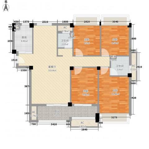御泉万景4室1厅2卫1厨137.00㎡户型图