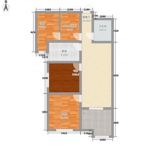 世纪一品3室1厅1卫1厨112.00㎡户型图