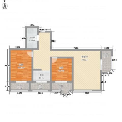 盛滨花园2室1厅1卫0厨114.00㎡户型图
