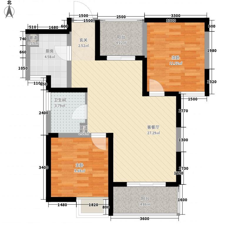 安高城市天地 3室 户型图