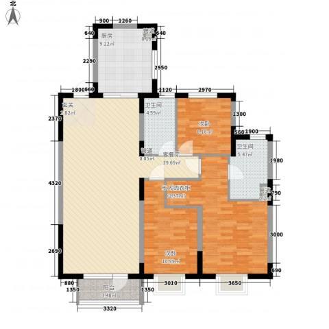 华润中心凯旋门3室1厅2卫1厨100.46㎡户型图