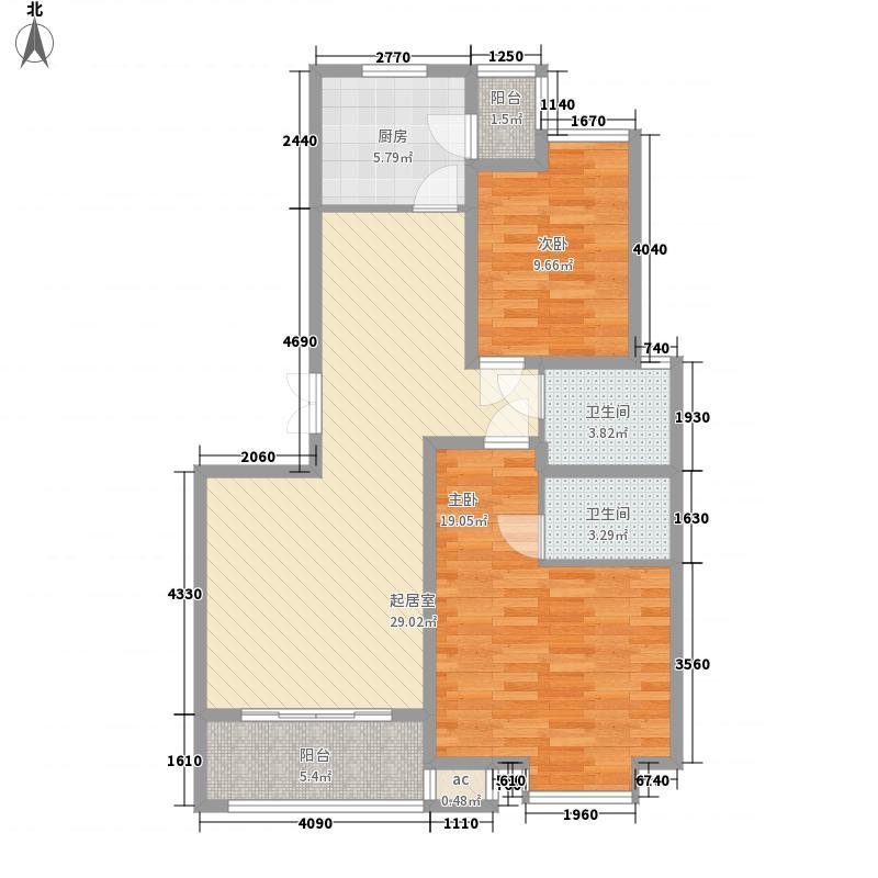 国大全城109.76㎡7、8号楼标准层面积10976m户型