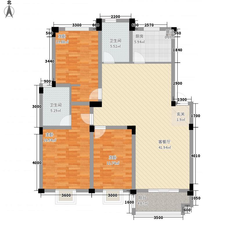 海亚当代再五栋134.19㎡海亚当代再五栋户型图D户型3室2厅2卫1厨户型3室2厅2卫1厨