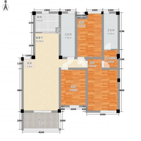 圣地阳光3室1厅2卫1厨103.26㎡户型图