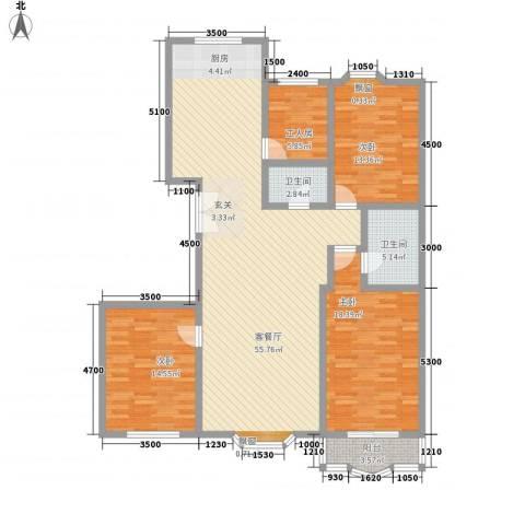 漪汾华苑(华宇)3室1厅2卫0厨162.00㎡户型图