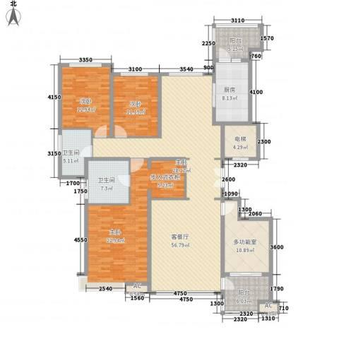 恒大雅苑3室1厅2卫1厨200.00㎡户型图
