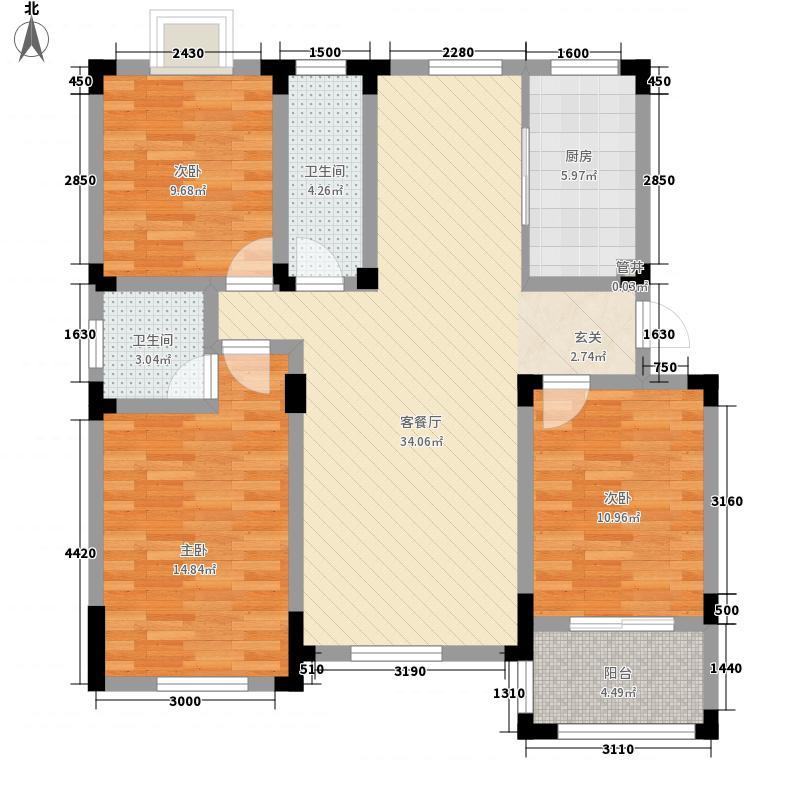 御水天成126.00㎡御水天成户型图H-A2户型3室2厅2卫户型3室2厅2卫