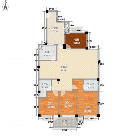 东源北院4室1厅2卫1厨152.00㎡户型图