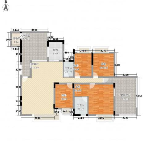 诚丰逸翠园4室1厅2卫1厨200.00㎡户型图