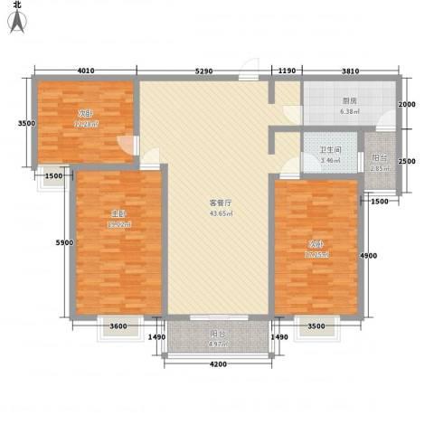万宁城市景苑3室1厅1卫1厨125.00㎡户型图