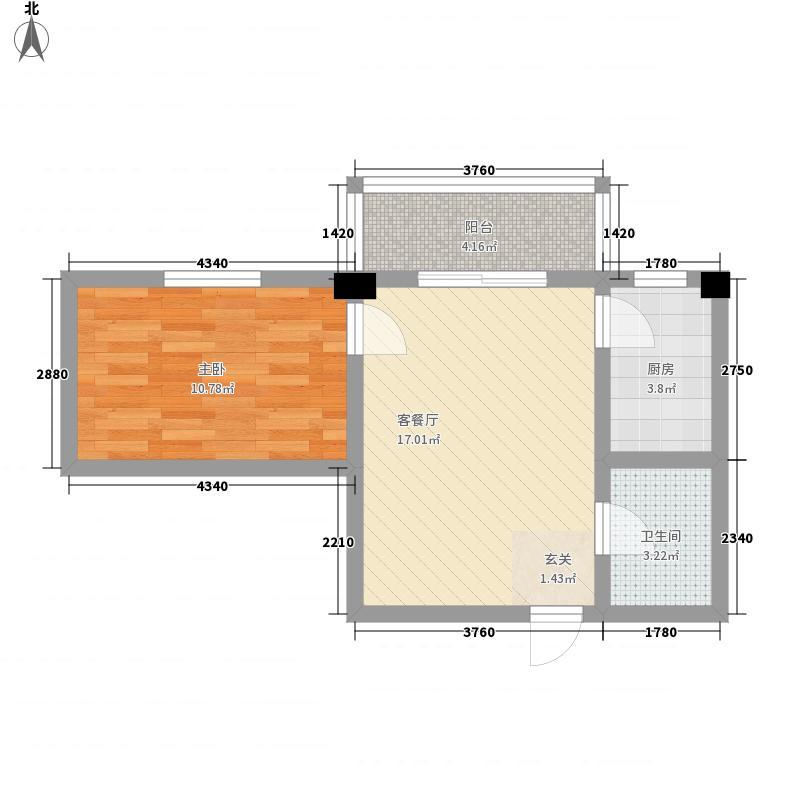 融安佳苑57.00㎡户型1室1厅1卫1厨
