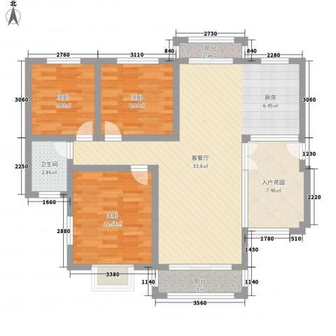 王仔假日3室1厅1卫0厨110.00㎡户型图