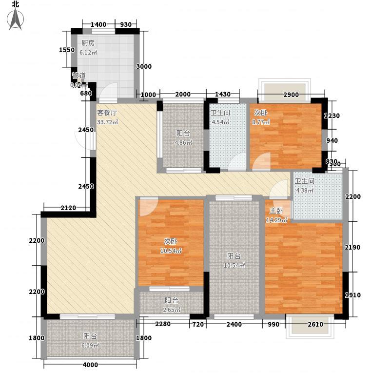 联合博学园12.00㎡N2-3户型3室2厅2卫1厨