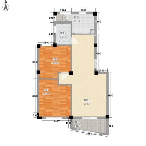 凤凰花园2室1厅1卫1厨95.00㎡户型图