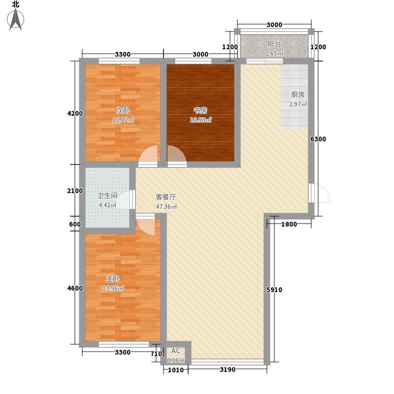 国奥现代城119.00㎡国奥现代城E户型10室
