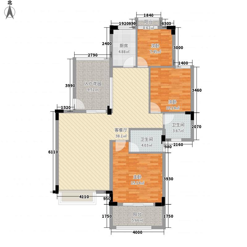 山水花城翠谷奇数层户型3室2厅2卫