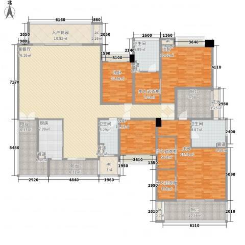 保利天玺4室1厅3卫1厨289.00㎡户型图