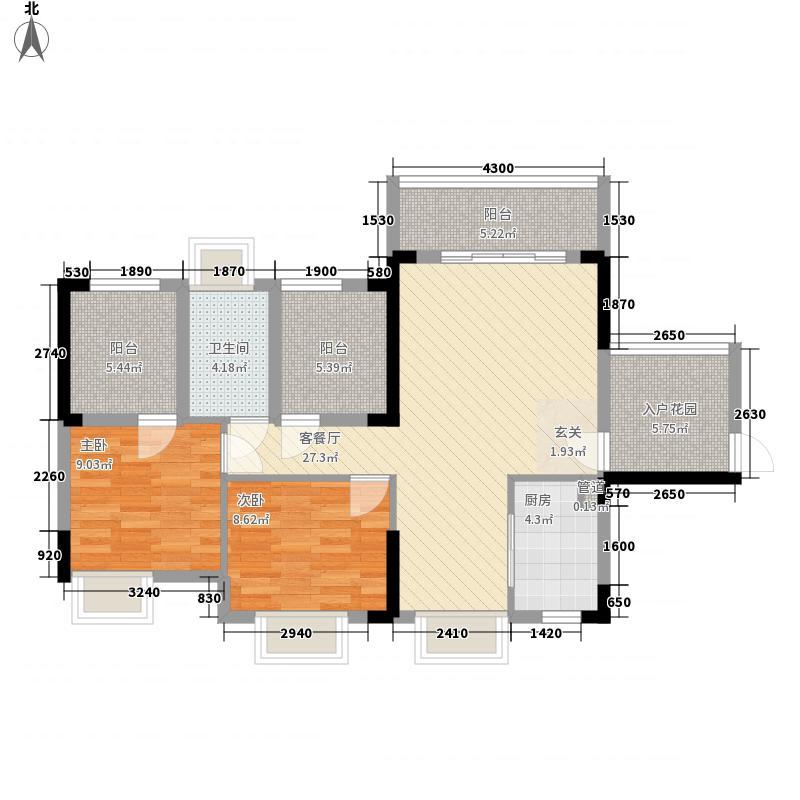 海岸豪苑2.13㎡1栋01/0户型2室2厅1卫1厨