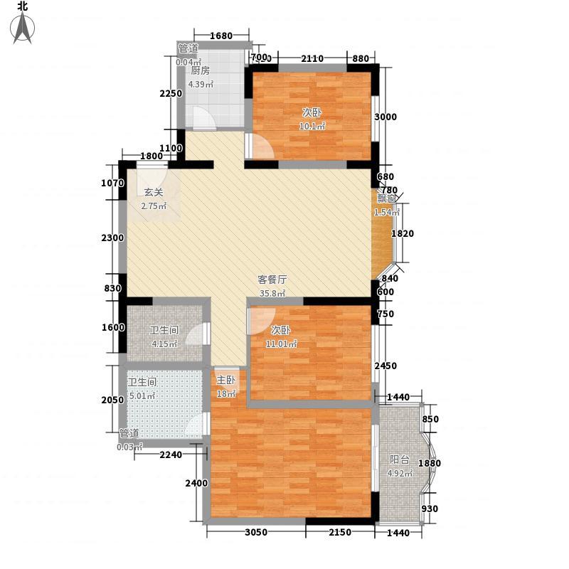 会所花园126.16㎡会所花园户型图户型图3室2厅2卫1厨户型3室2厅2卫1厨