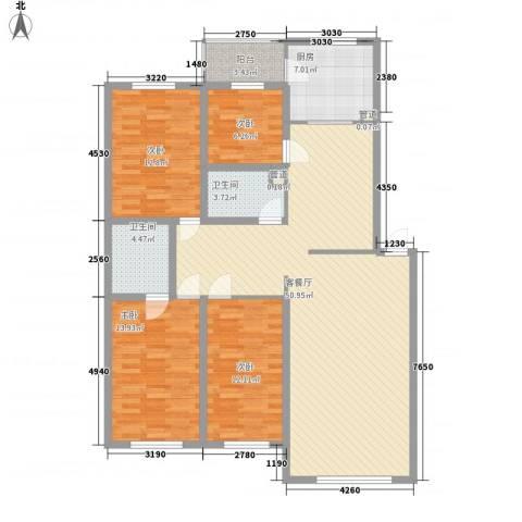 新嘉坡城4室1厅2卫1厨164.00㎡户型图