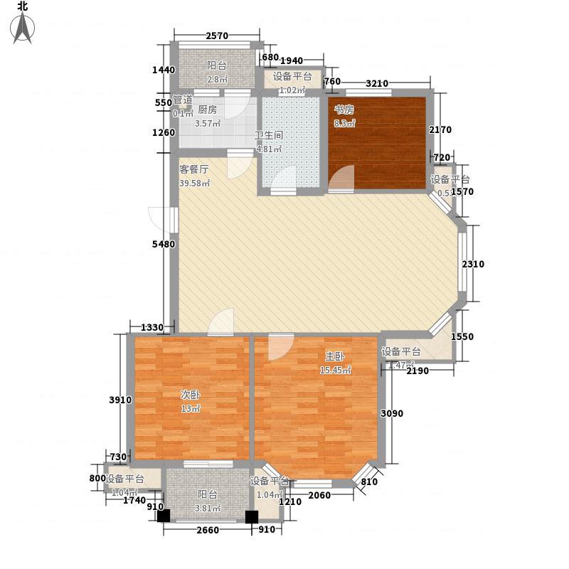 恒兴金都华庭110.00㎡恒兴金都华庭户型图三室两厅一卫110㎡3室2厅1卫1厨户型3室2厅1卫1厨
