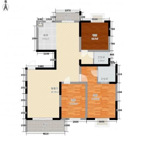 国泰新都3室1厅2卫0厨148.00㎡户型图