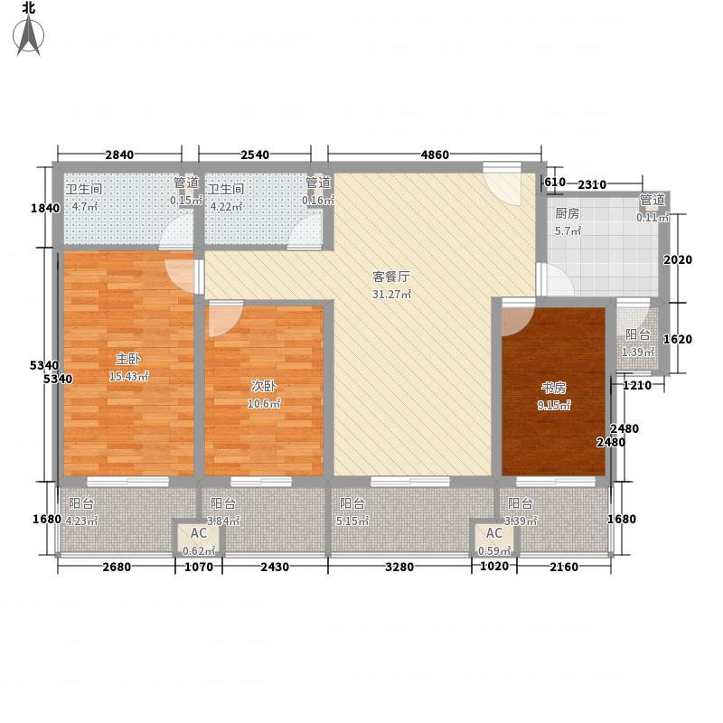 胜利鑫城145.00㎡胜利鑫城户型图户型图3-02145南3室1厅2卫1厨户型3室1厅2卫1厨