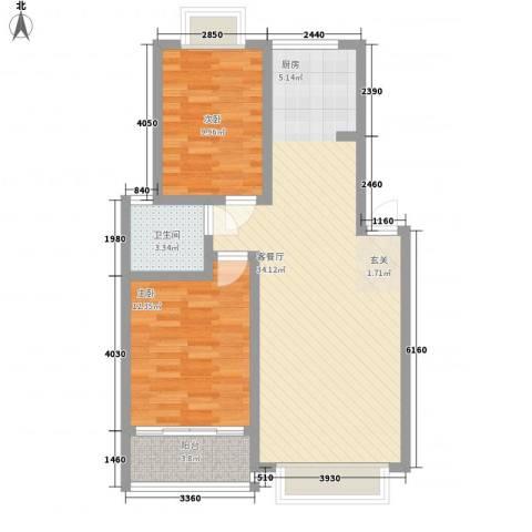 康和苑2室1厅1卫0厨92.00㎡户型图