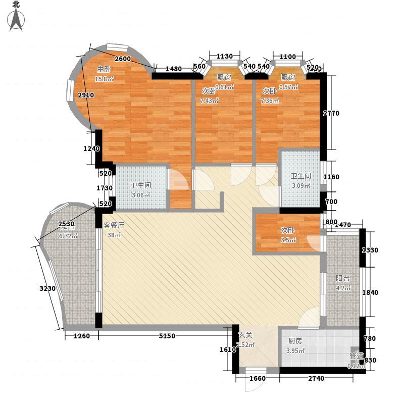 世纪村134.27㎡深圳世纪村一期嘉和府户型图2户型10室