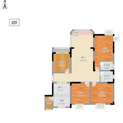 英豪永和春天3室2厅2卫1厨176.00㎡户型图