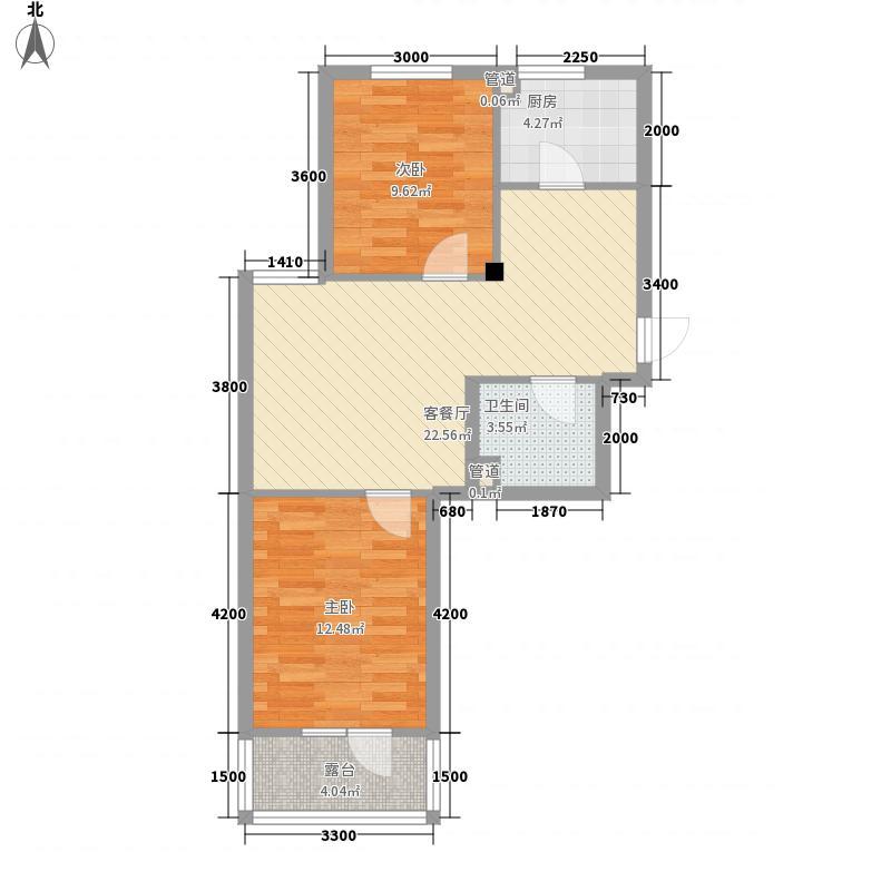 水晶恋城69.66㎡水晶恋城户型图D1户型图2室2厅1卫1厨户型2室2厅1卫1厨