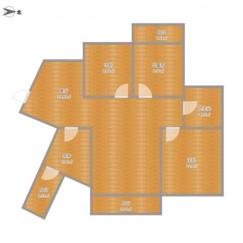 海投天湖城3室1厅1卫1厨114.00㎡户型图